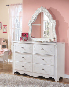 Exquisite - White - French Style Bedroom Mirror