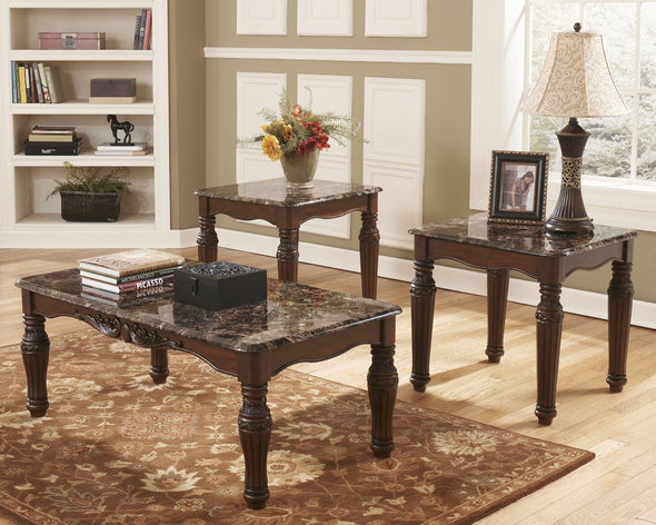North Shore - Dark Brown - Occasional Table Set (3/CN)