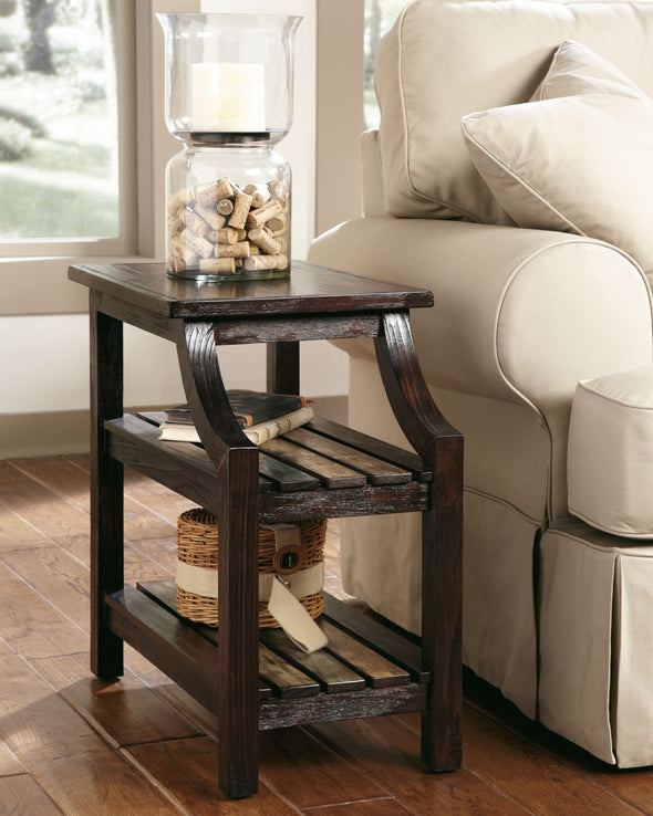 Mestler - Rustic Brown - Chair Side End Table