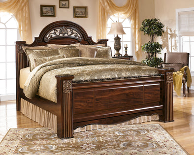 Gabriela - Dark Reddish Brown - King Poster Footboard