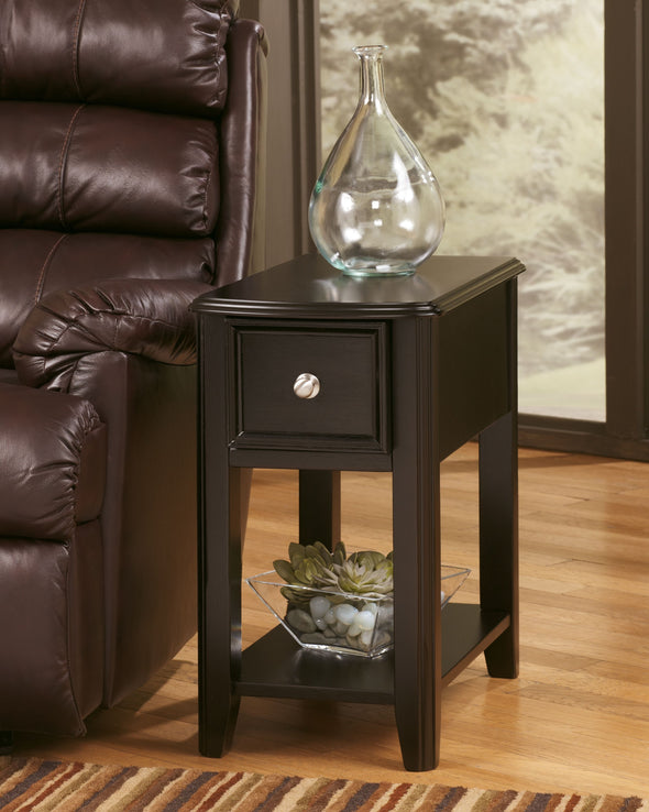 Breegin - Almost Black - Chair Side End Table