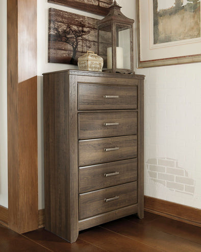 Juararo - Dark Brown - Five Drawer Chest