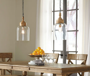 Faiz - Transparent - Glass Pendant Light (1/CN)