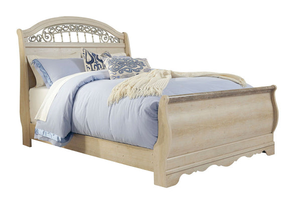 Catalina - Antique White -  Sleigh Bed
