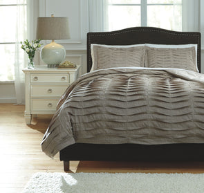Voltos - Brown - Queen Duvet Cover Set