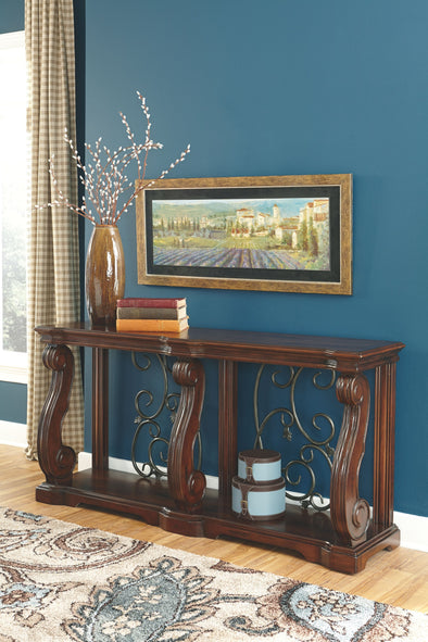 Alymere - Rustic Brown - Sofa Table