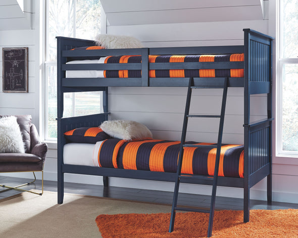 Leo - Blue - Twin Bunk Bed Rails and Ladder