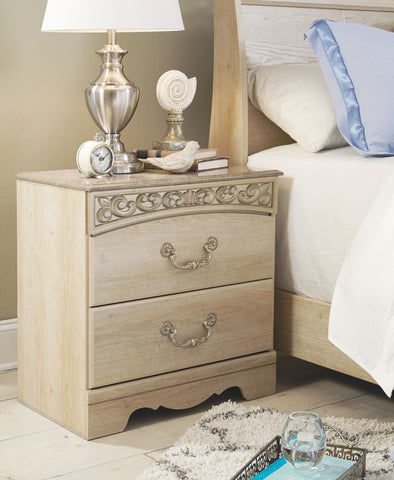 Catalina - Antique White - Two Drawer Night Stand