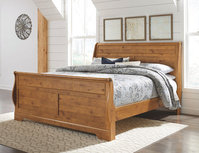 Bittersweet - Light Brown - King Sleigh Headboard