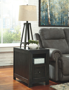Gavelston - Rubbed Black - Chair Side End Table