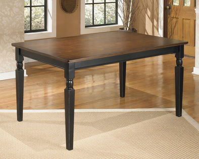 Owingsville - Black/Brown - Rectangular Dining Room Table