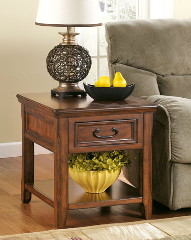 Woodboro - Dark Brown - Rectangular End Table