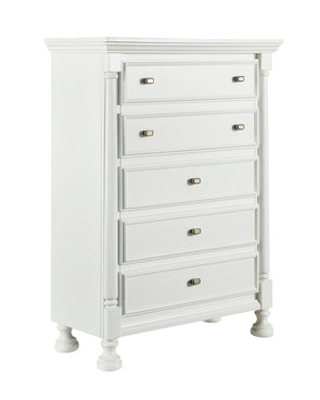 Kaslyn - White - Five Drawer Chest