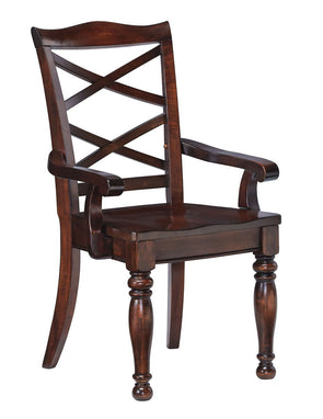 Porter - Rustic Brown - Dining Room Arm Chair