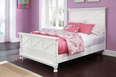 Kaslyn - White - Full Panel Footboard