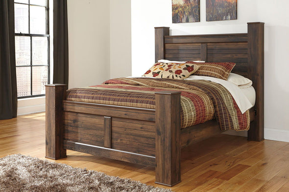 Quinden - Dark Brown - Queen Poster Headboard Panel