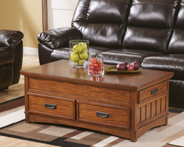 Cross Island - Medium Brown - Lift Top Cocktail Table