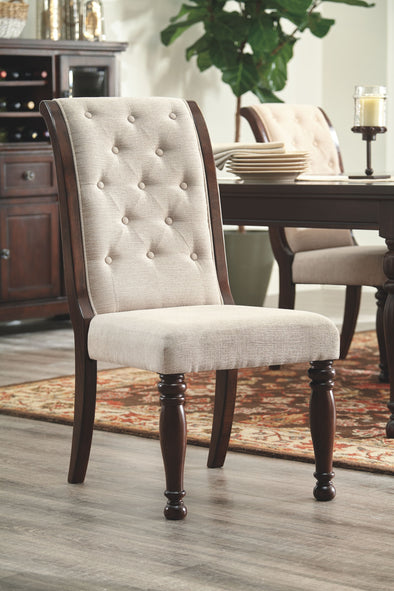 Porter - Rustic Brown - Dining UPH Side Chair