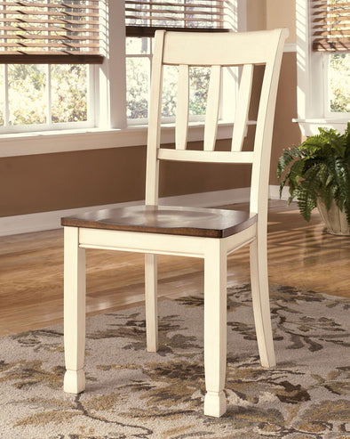 Whitesburg - Brown/Cottage White - Dining Room Side Chair