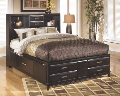 Kira - Almost Black - Queen Storage Footboard