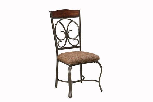 Glambrey - Brown - Dining UPH Side Chair (4/CN)