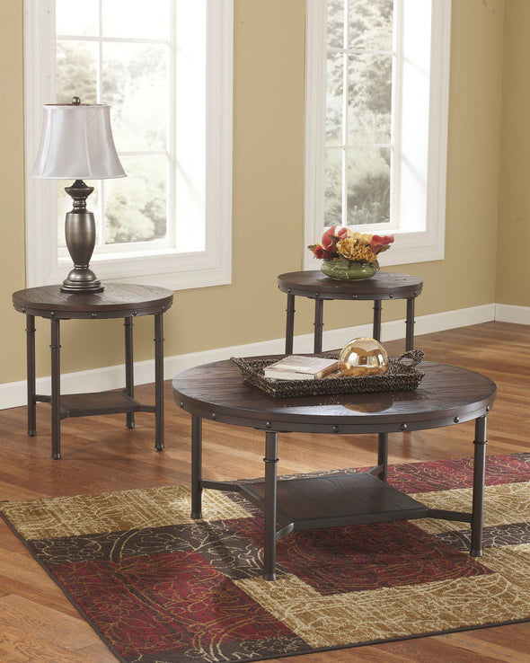 Sandling - Rustic Brown - Occasional Table Set (3/CN)