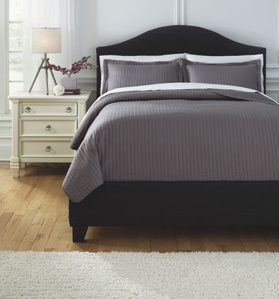Raleda - Gray - King Coverlet Set