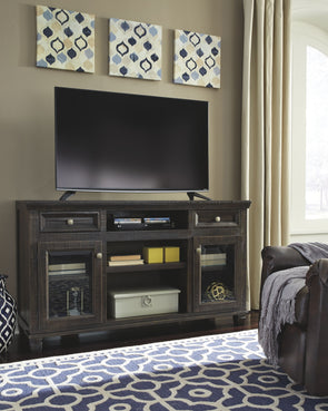 Townser - Grayish Brown - LG TV Stand w/Fireplace Option