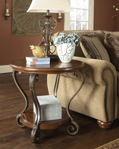 Nestor - Medium Brown - Round End Table