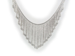 Luxxurio Silk Curtain Collar Necklace