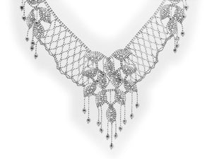 Luxxurio Princess Silk Collar Necklace