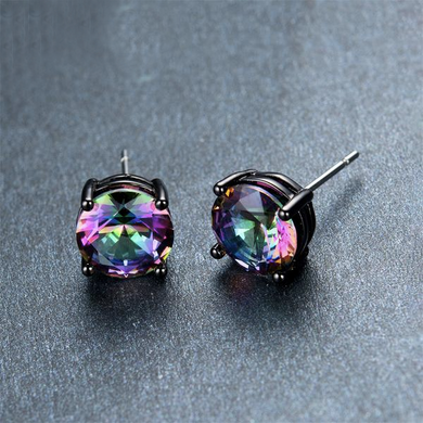 Luxxurio Mystery Bohemian Rainbow Stud Earrings - Luxxurio