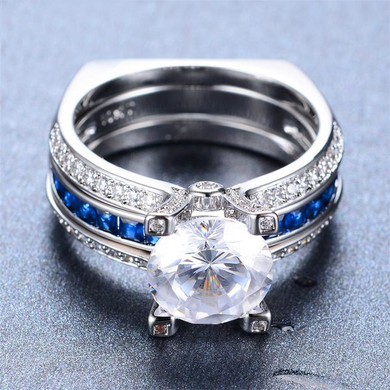 Luxxurio Blue Wedding Ring