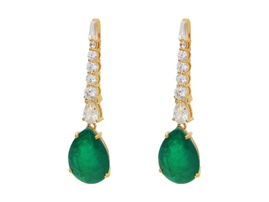 Luxxurio Southpoint Gala Emerald Earrings