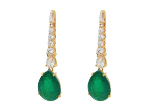 Luxxurio Southpoint Gala Emerald Earrings - Luxxurio