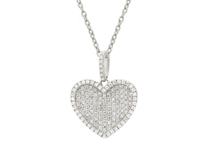 Luxxurio Platinum Plated Eternal Love Necklace