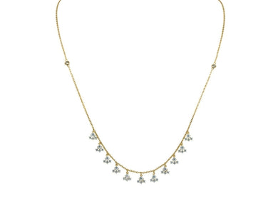 Luxxurio Golden Snowflakes Necklace