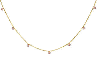 Luxxurio Rose Quartz Stones Necklace