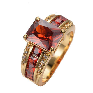Luxxurio Red Gold Plated Ring - Luxxurio