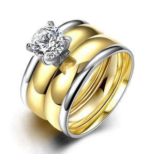 Luxxurio Wedding Stainless Steel Ring