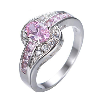 Luxxurio Pink Oval Ring