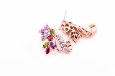 Luxxurio Gold Plated Flower Earrings - Luxxurio