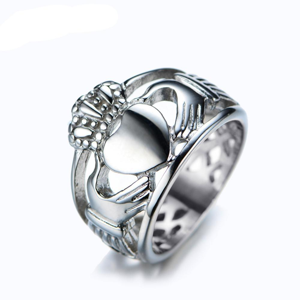 Luxxurio Stainless Steel Heart Ring