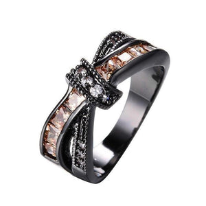 Luxxurio Champagne Cross Ring - Luxxurio