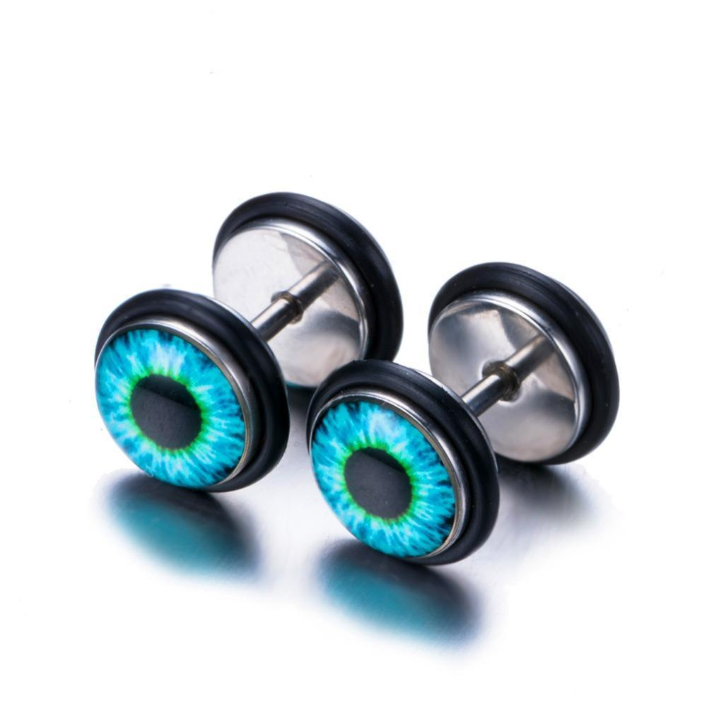 Luxxurio Eye Fire Stud Earrings