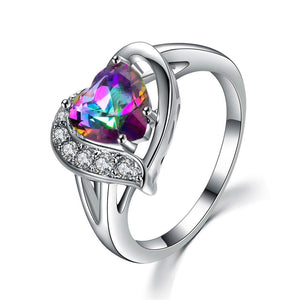 Luxxurio Mystery Rainbow Heart Ring
