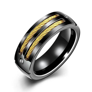 Luxxurio Rope Titanium Steel Ring