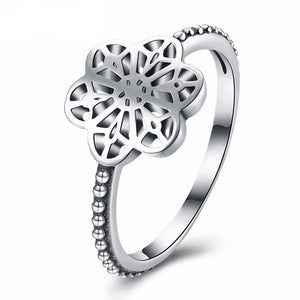 Luxxurio Hollow Star Silver Wedding Ring