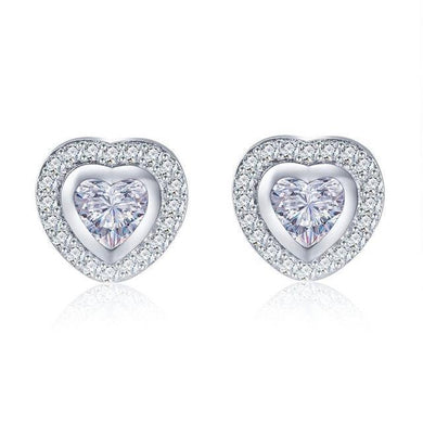 Luxxurio Heart Stud Earrings - Luxxurio