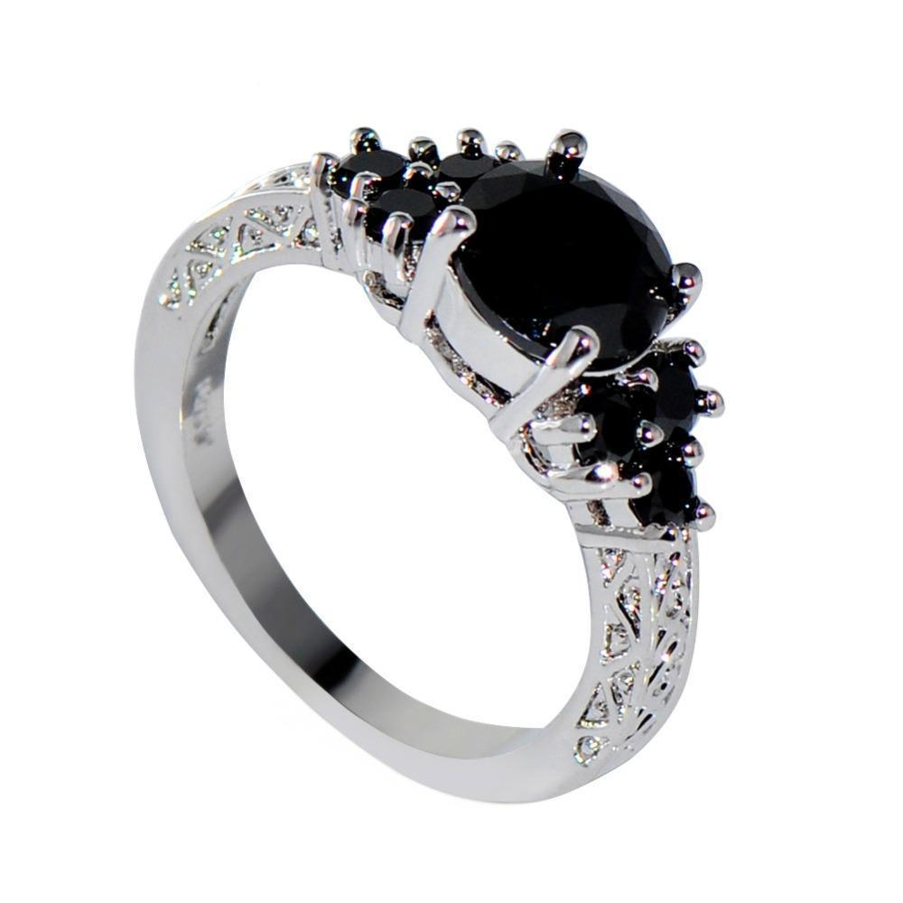 Luxxurio Black Zircon Ring